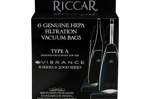 Riccar Vibrance Upright bags - 6pk (HEPA)